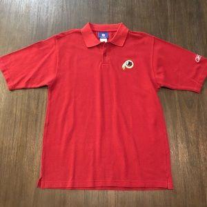 7b943c17 Reebok Shirts | Washington Redskins Nfl Pique Cotton Polo | Poshmark